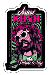 Stickers Jesus Kush 10cm - Pack de 10