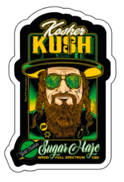 Stickers Kosher Kush 10cm - Pack de 10